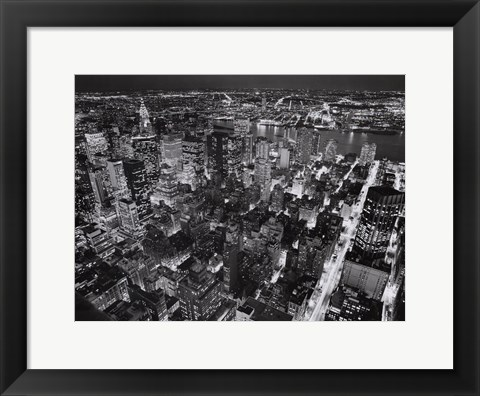 Framed Empire State Building, East View Print