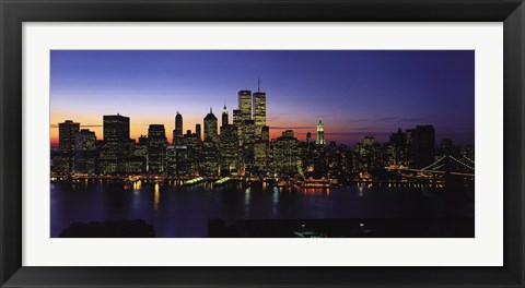 Framed New York Skyline Print