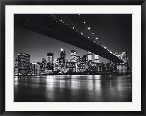 Framed New York, New York, Manhattan Skyline Print