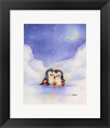 Framed Little Penguins Print