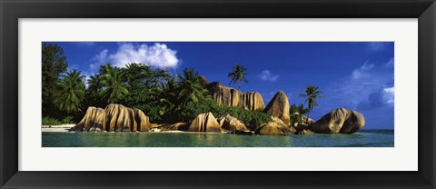 Framed La Digue Island, Seychelles, Indian Ocean Print