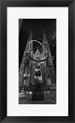 Framed Saint Patrick's Cathedral, NYC Print