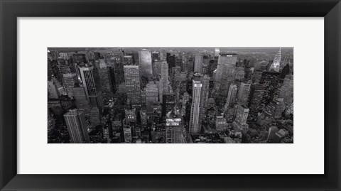 Framed Looking Up Fifth Avenue Print