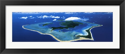 Framed Bora Bora, French Polynesia, South Pacific Print