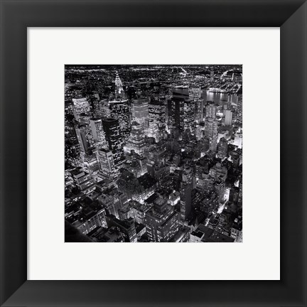 Framed New York by Night Print