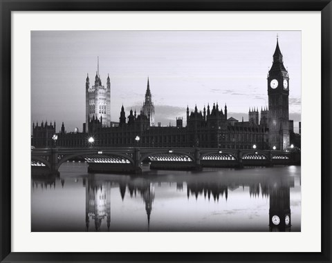 Framed Big Ben and the Houses of Parliament Print