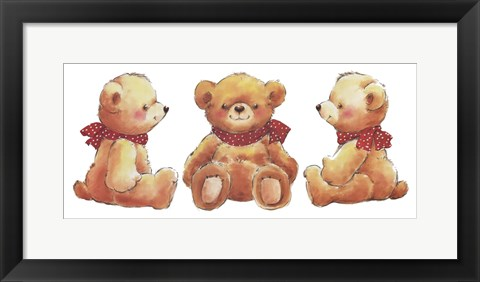 Framed Teddies Print