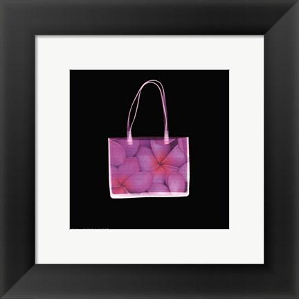 Framed Flowered Purse in Square Print