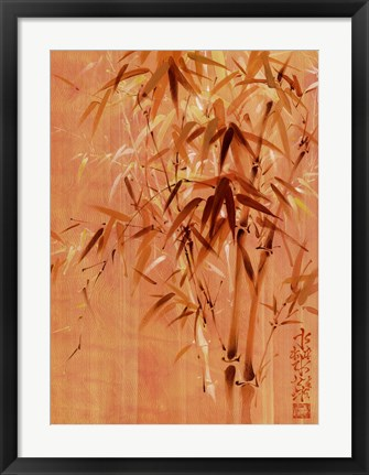 Framed Bamboo Leaves II Print