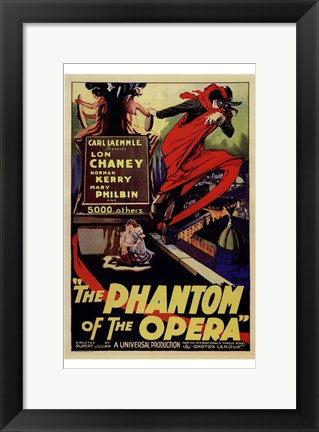 Framed Phantom of the Opera Lon Chaney Print