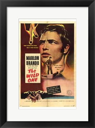 Framed Wild One - a mans face Print