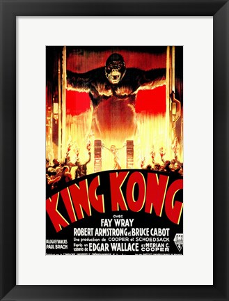 Framed King Kong Tribal Print