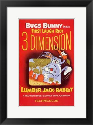 Framed Lumber Jack-Rabbit Print