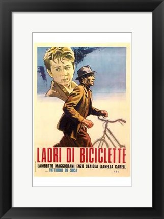 Framed Bicycle Thief - bicycle Print