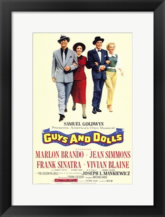 Framed Guys and Dolls Brando Simmons Sinatra Blaine Print