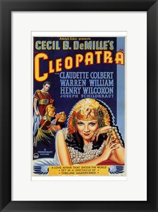Framed Cleopatra Cecil B. DeMille Print