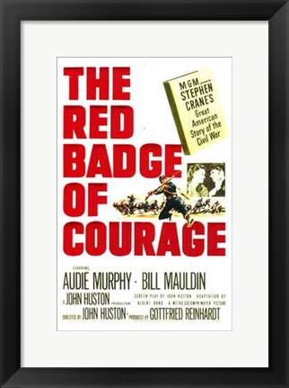 Framed Red Badge of Courage Print