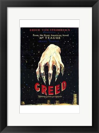 Framed Greed Print