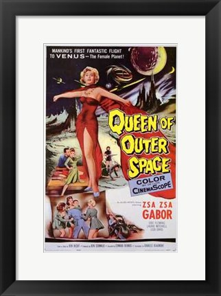 Framed Queen of Outer Space Print