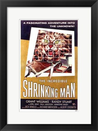 Framed Incredible Shrinking Man Print