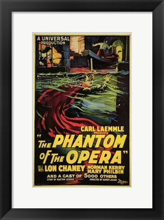 Framed Phantom of the Opera Carl Kaemmle Print