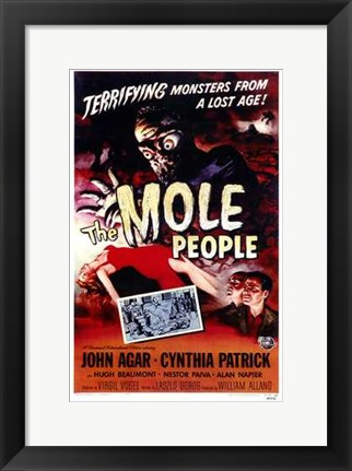 Framed Mole People Print