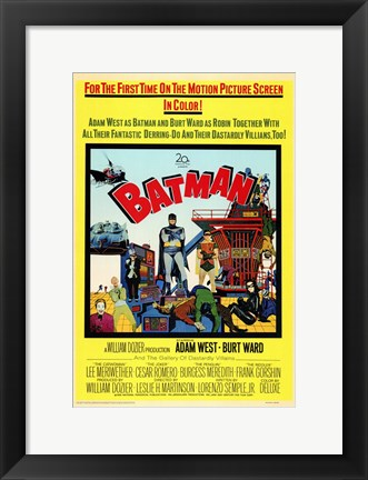 Framed Batman Cartoon Print