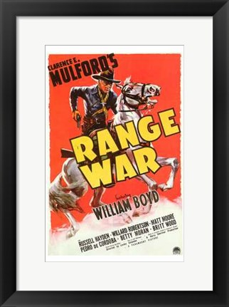 Framed Range War Print