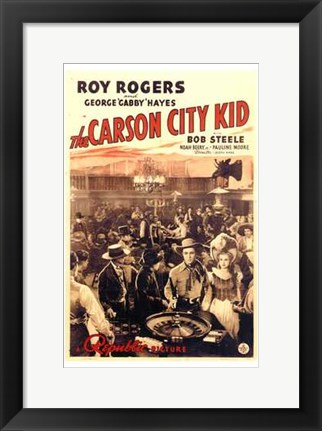 Framed Carson City Kid Print