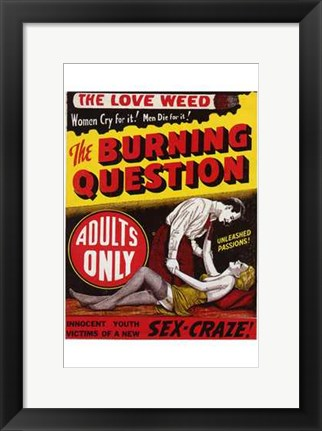 Framed Burning Question Print