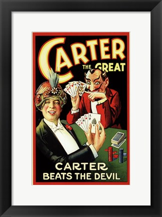 Framed Carter Beats the Devil Print