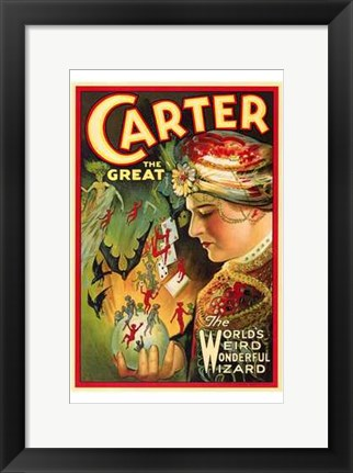 Framed Carter the Great Print