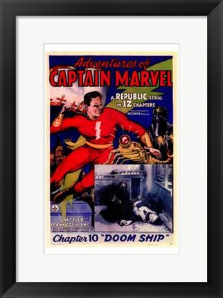 Framed Adventures of Captain Marvel - style A Print