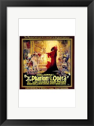 Framed Phantom of the Opera Square Print
