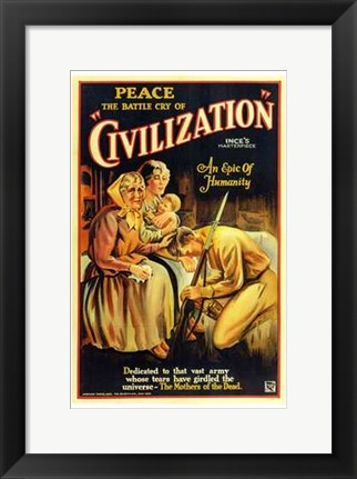 Framed Civilization Thos H Ince Print