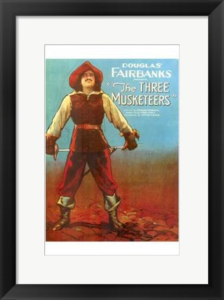 Framed Three Musketeers - Man standing Print