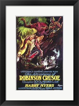 Framed Adventures of Robinson Crusoe Print