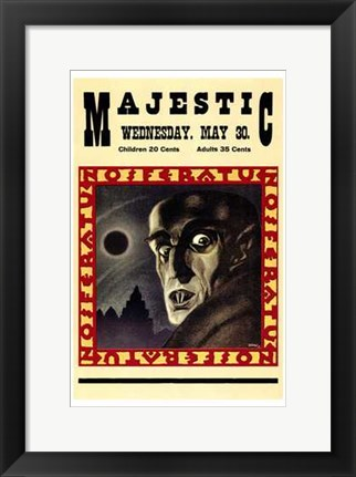 Framed Nosferatu the Vampire Print