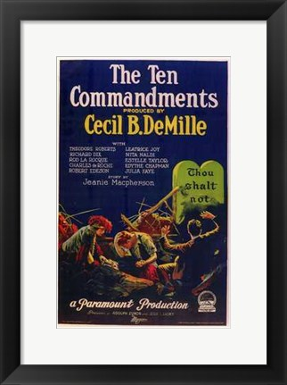 Framed Ten Commandments Thou Shalt Not Print