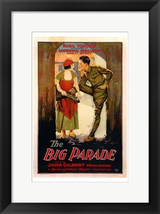 Framed Big Parade With John Gilbert Print