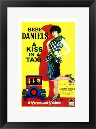 Framed Kiss in a Taxi Print