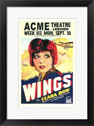 Framed Wings - ACME theatre Print