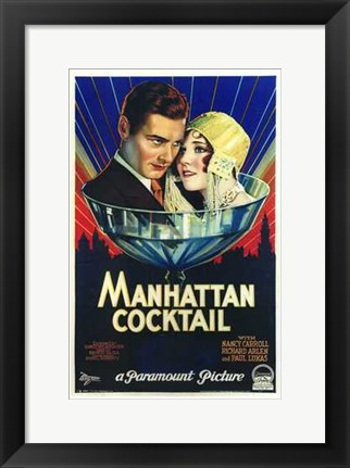 Framed Manhattan Cocktail Print