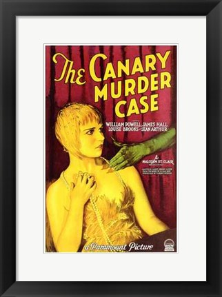 Framed Canary Murder Case With William Powell Print