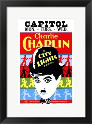 Framed City Lights - Capitol Print