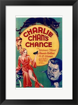 Framed Charlie Chan's Chance With Warner Oland Print