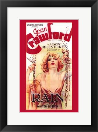 Framed Rain With Joan Crawford Print