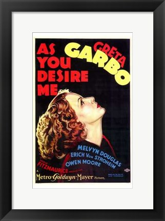Framed as You Desire Me Print