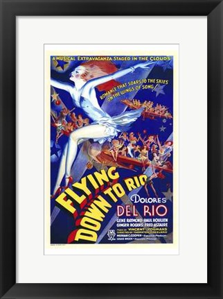 Framed Flying Down to Rio Print