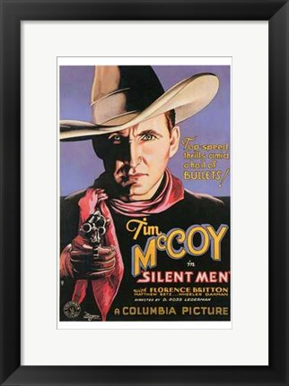 Framed Silent Men Print